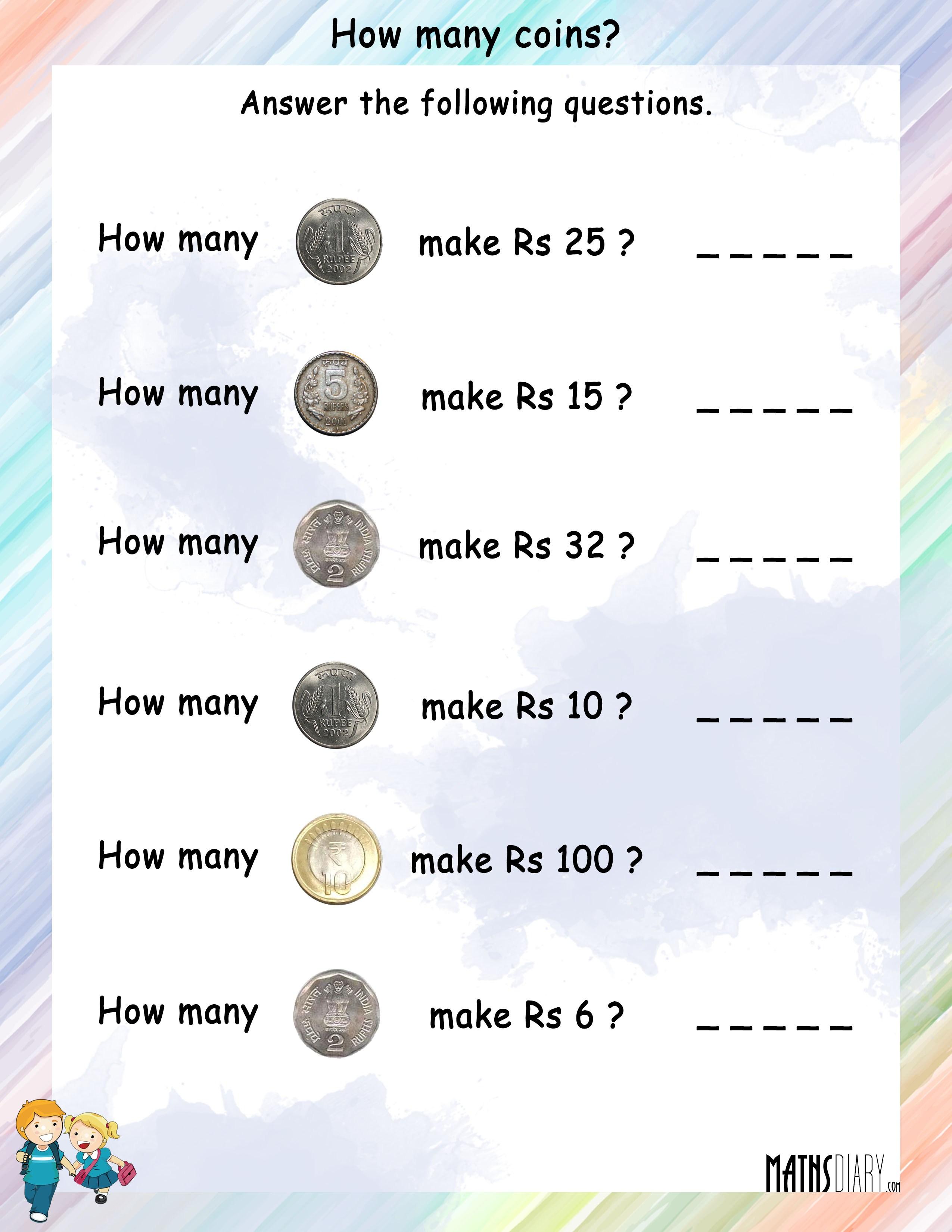 Money Grade 2 Math Worksheets