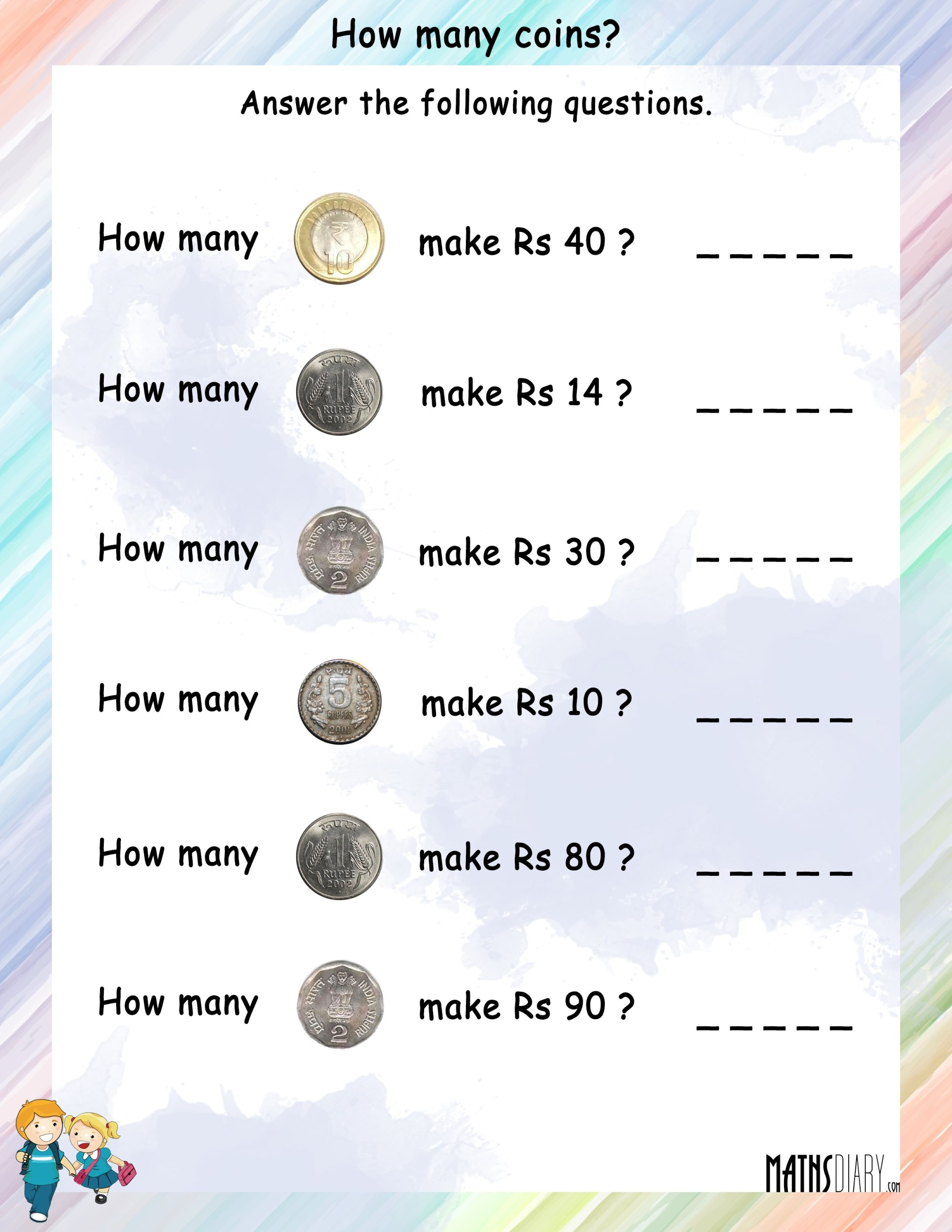 hight resolution of Math Money Worksheet Coins   Printable Worksheets and Activities for  Teachers