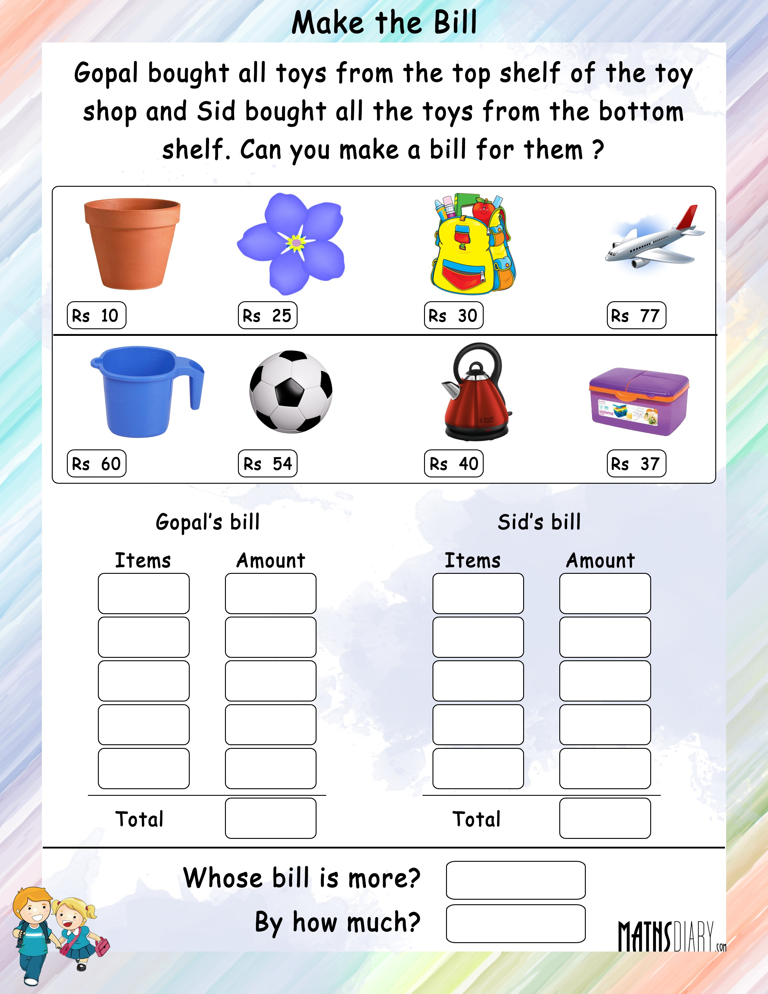 Mental Maths Grade 2 Math Worksheets