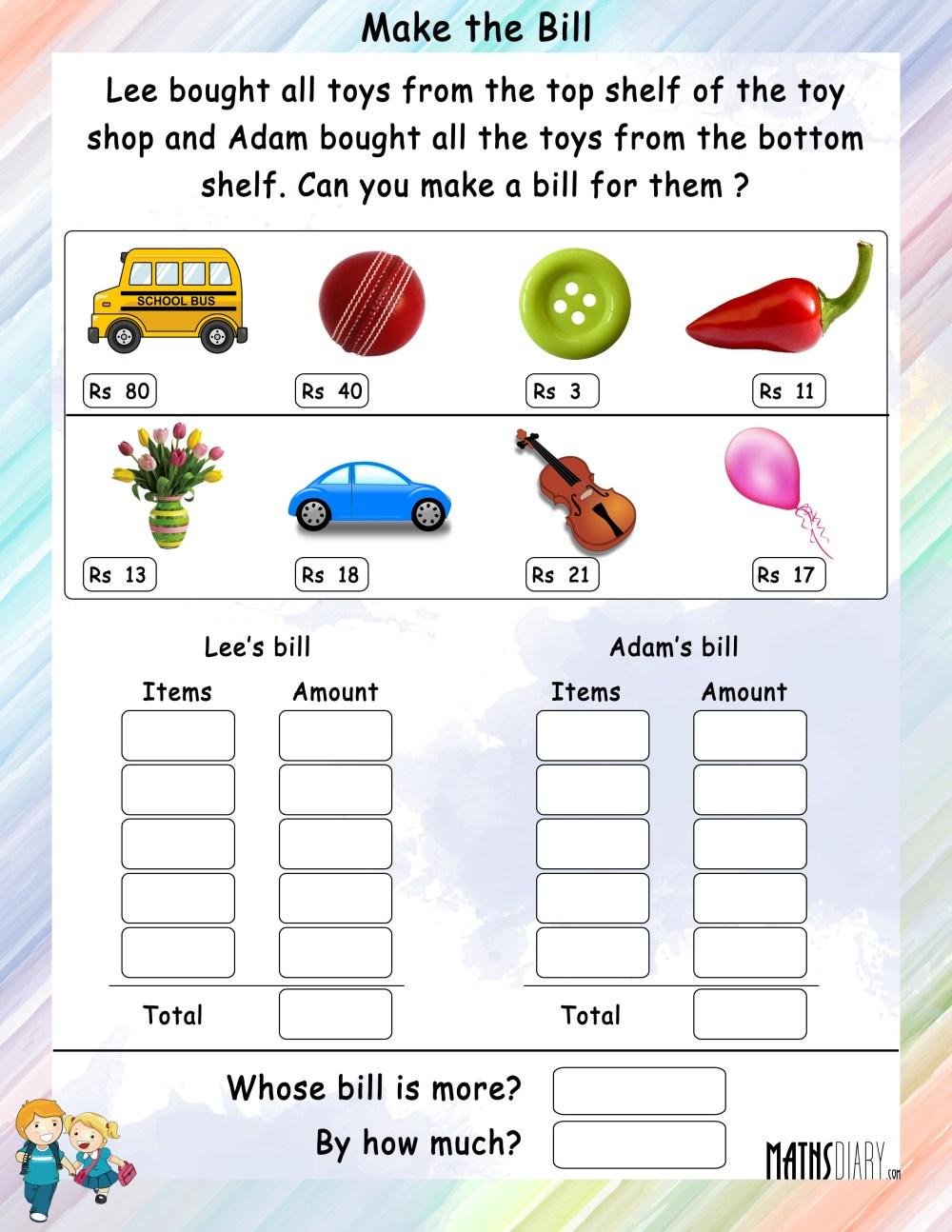 medium resolution of Mental Maths – Grade 2 Math Worksheets - Page 2