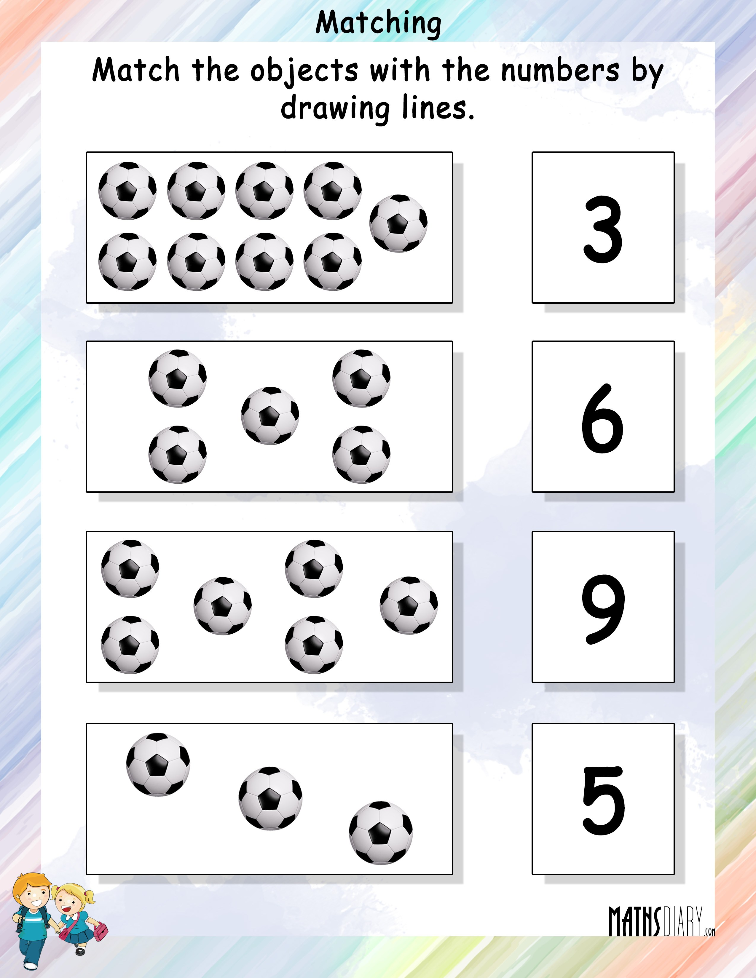 Match The Objects With Numbers