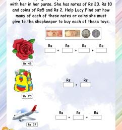 Money - Math Worksheets - MathsDiary.com [ 3300 x 2550 Pixel ]