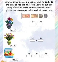 Hard Money Math Worksheets   Printable Worksheets and Activities for  Teachers [ 3300 x 2550 Pixel ]