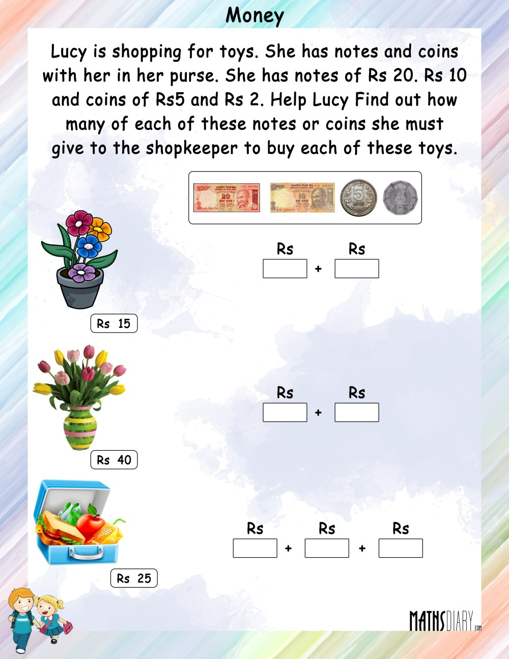 medium resolution of Hard Money Math Worksheets   Printable Worksheets and Activities for  Teachers