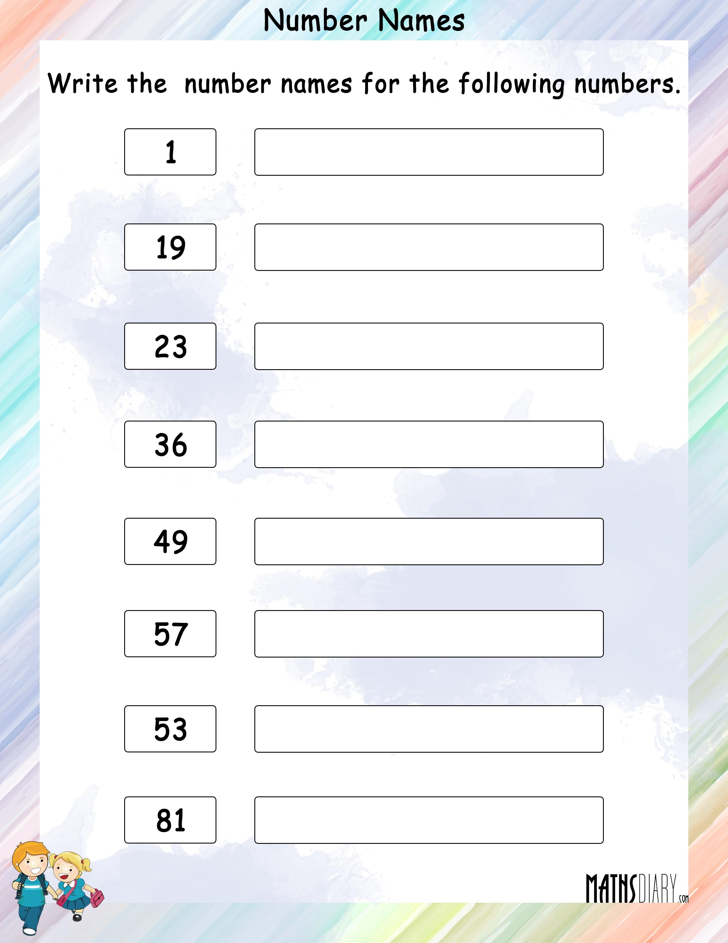 8 9 Number Worksheet