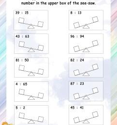 Comparing – Grade 1 Math Worksheets [ 3300 x 2550 Pixel ]