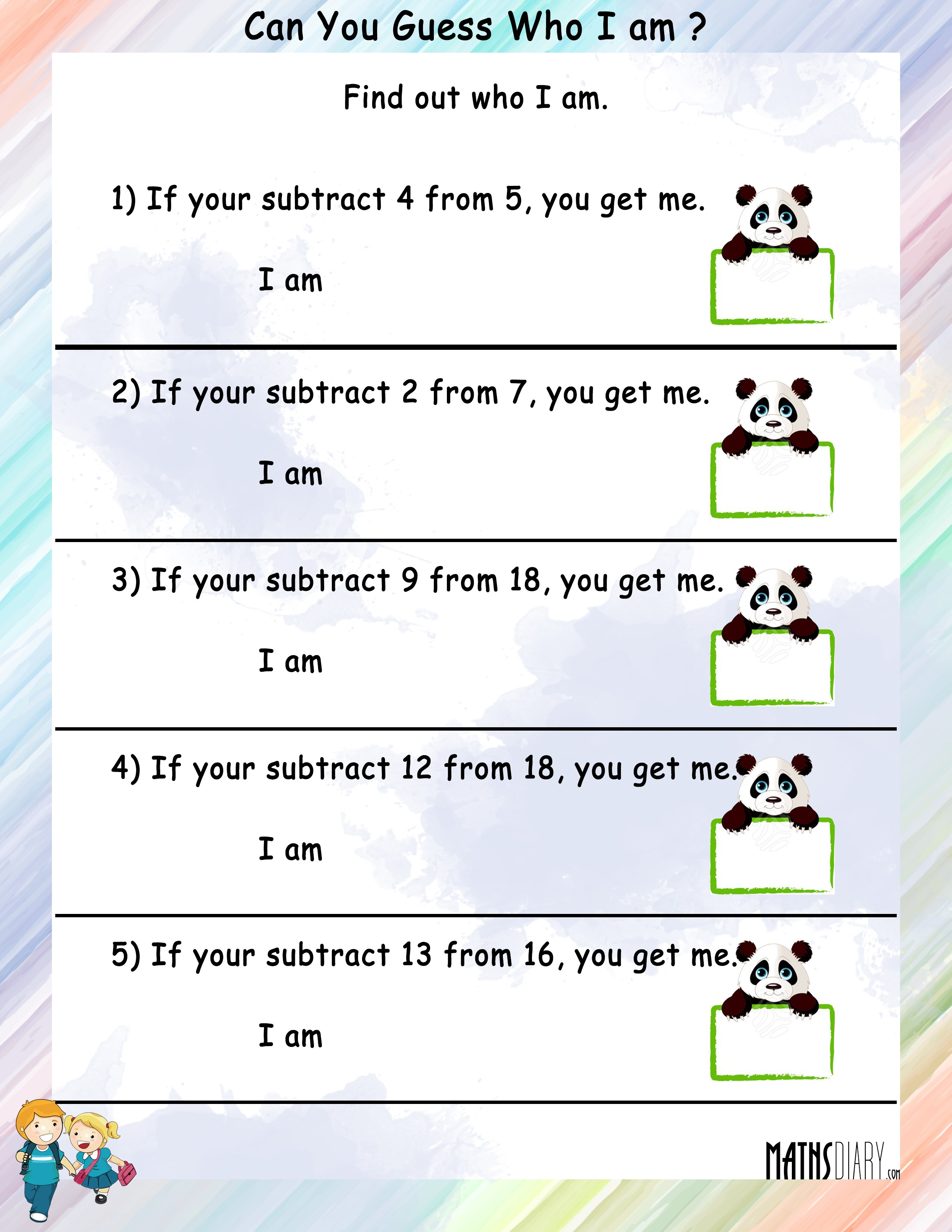 Subtraction Grade 1 Math Worksheets