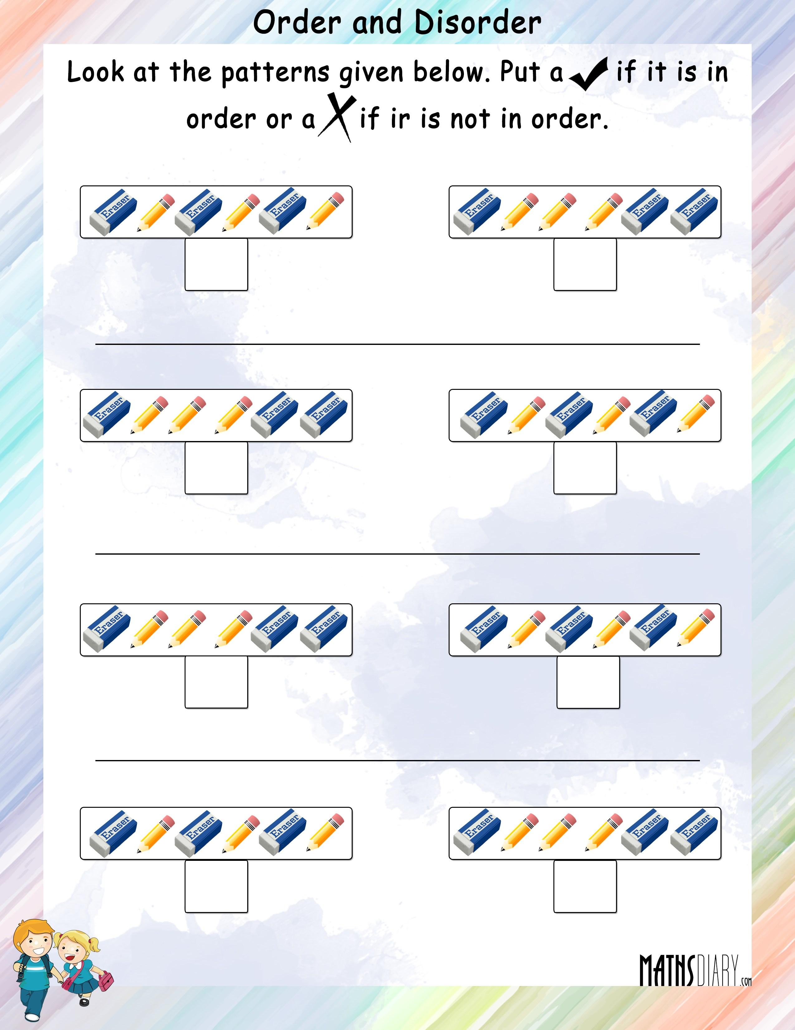7th Worksheet Number Patterns