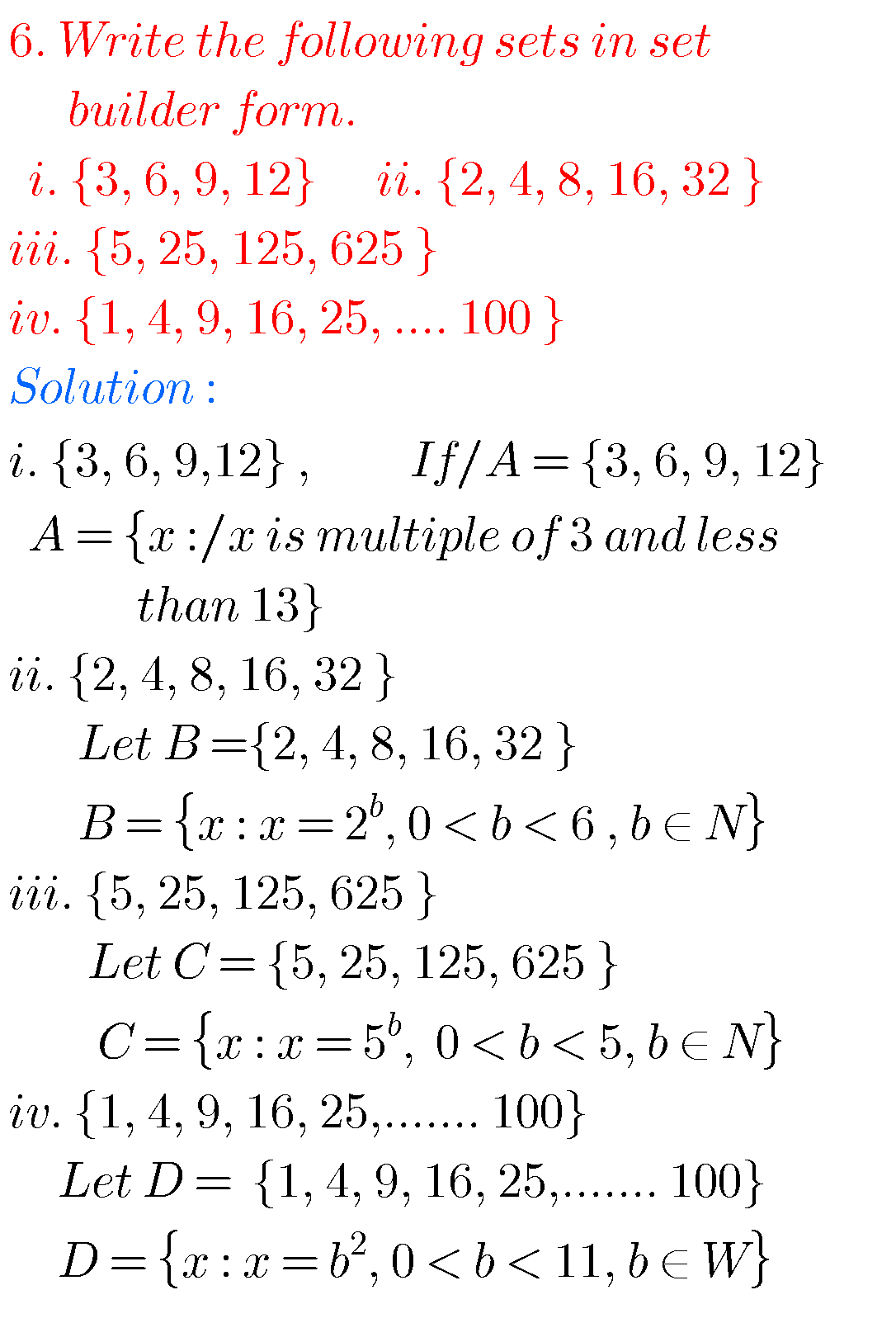 hight resolution of Tenth maths guide for sets
