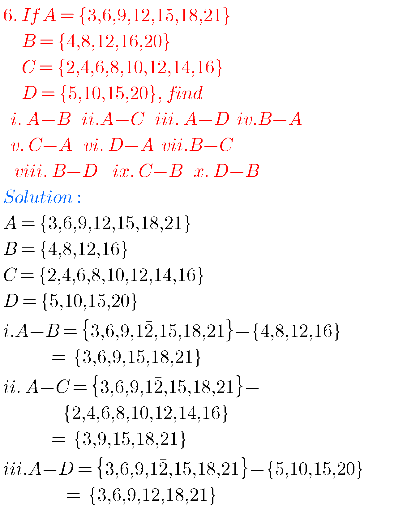 small resolution of Tenth maths guide for sets