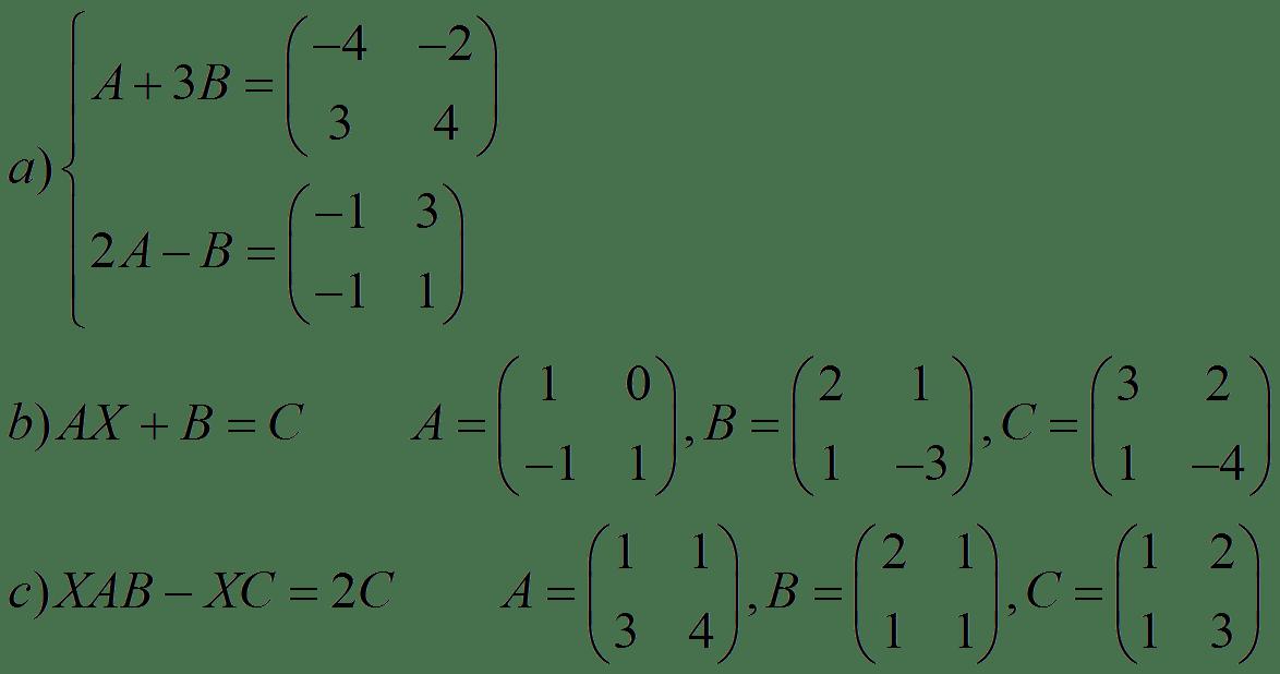 Matrix Equations Matrices
