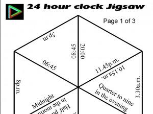 24 hour clock Jigsaw