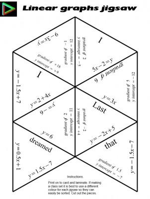 Linear Gaphs jigsaw
