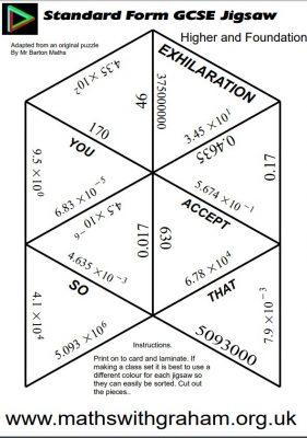 Standard Form Jigsaw