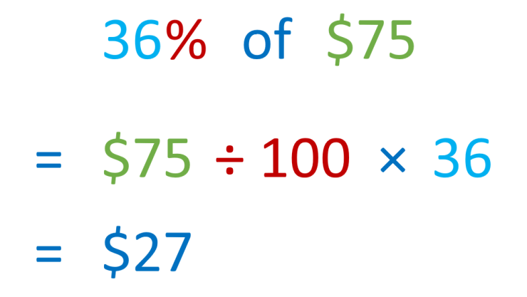 finding 36% of $75