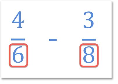 subtracting fractions with unlike denominators question