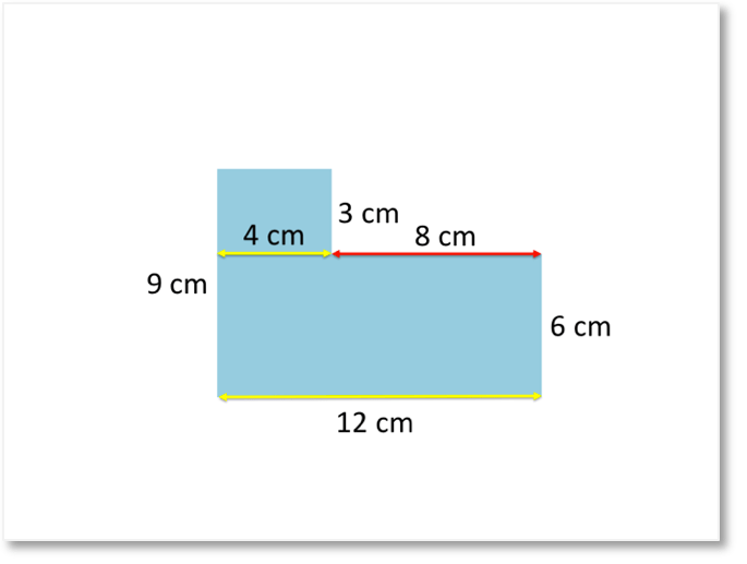 Finding missing side lengths of compound shapes