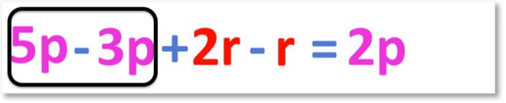 5p + 2r - 3p - r