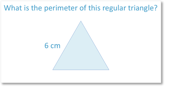 Perimeter of a regular equilateral triangle