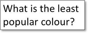 What is the least popular colour?