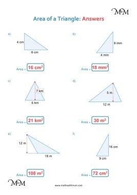What Are Some Geometry Formulas for Triangles