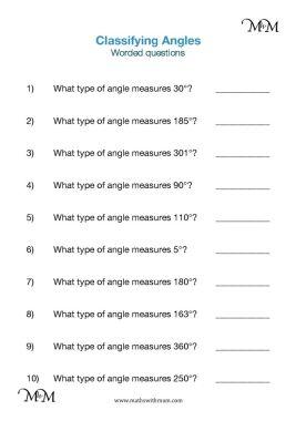 identifying angles worksheet pdf