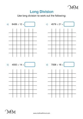 long division by two digits worksheet pdf
