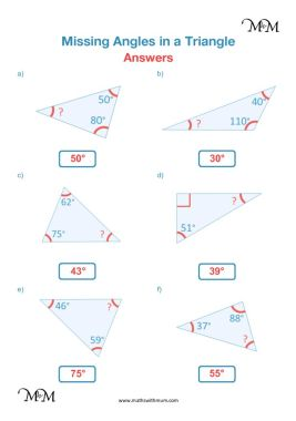 angles in a triangle worksheet answers pdf