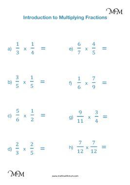 multiplying proper fractions worksheet pdf