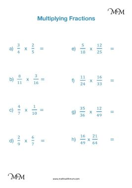 Multiplying fractions by simplifying first worksheet pdf