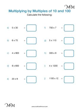 multiplying by multiples of 10 and 100 worksheet pdf