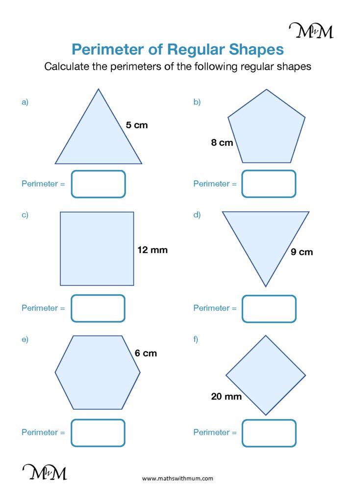 Perimeter Of Regular Shapes