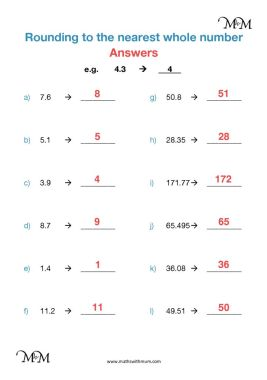 Rounding Decimals To The Nearest Whole Number Maths With Mum