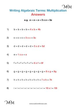 algebraic terms worksheet answers pdf