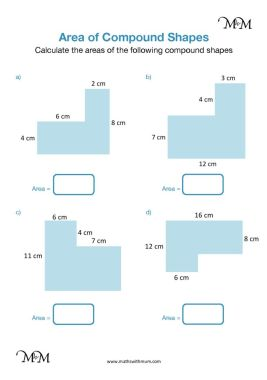 area of compound shapes worksheet pdf
