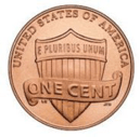 an american one cent coin also known as a penny coin