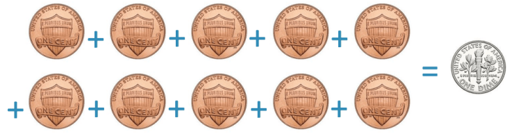 american dime coin is worth 10 cents