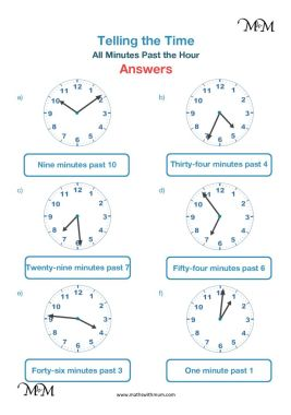 Drawing the hands on a clock worksheet answers pdf