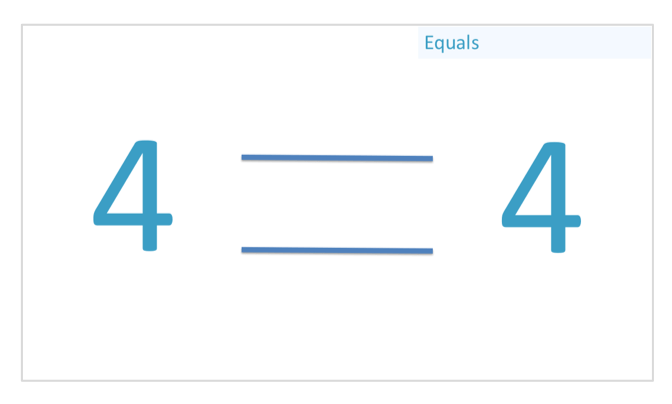 example of the equals sign comparison symbol