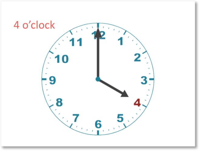 4 oclock hour