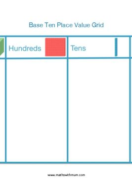 blank printable base ten block place value charts to use for teaching