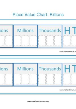 blank printable billions and millions place value chart ones