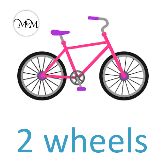 a bicycle has 2 wheels