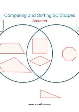 sorting shapes on a venn diagram worksheet answers pdf ks2