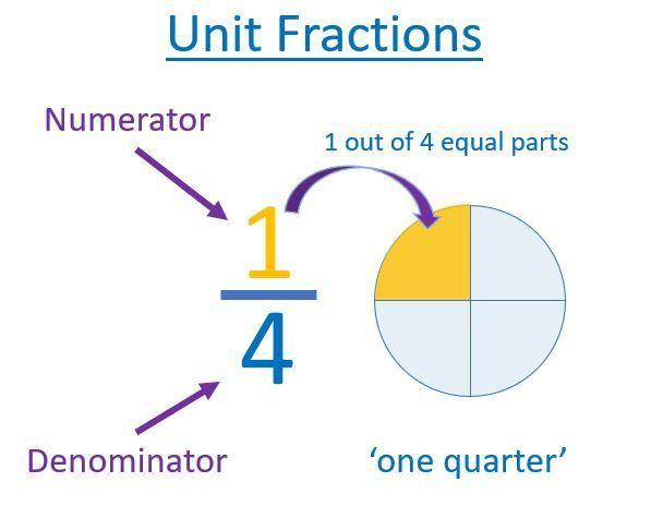 unit fraction of one quarter
