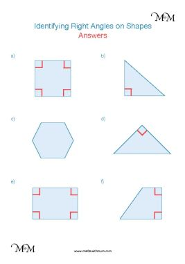 identifying right angles on shapes worksheet answers pdf