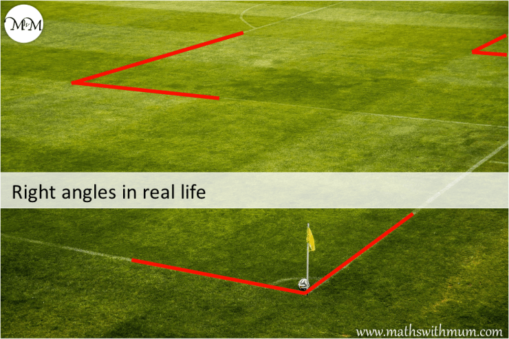 right angle in real life example of a soccer pitch