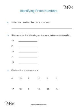 prime numbers to 20 worksheet pdf