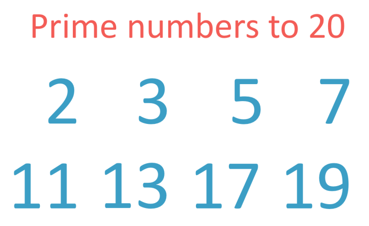 Prime Numbers to 20