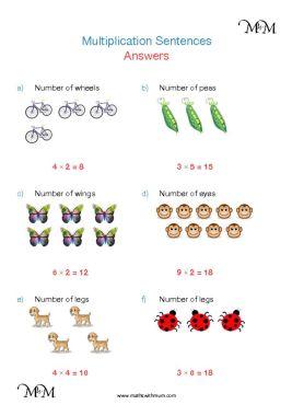 multiplication sentences worksheet answers pdf